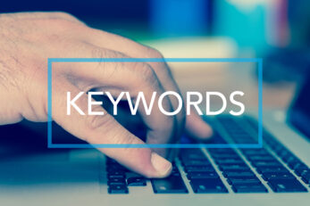 Paid search Technology Concept: KEYWORDS